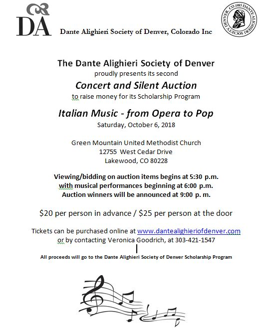 Oct 6 Concert and Silent Auction