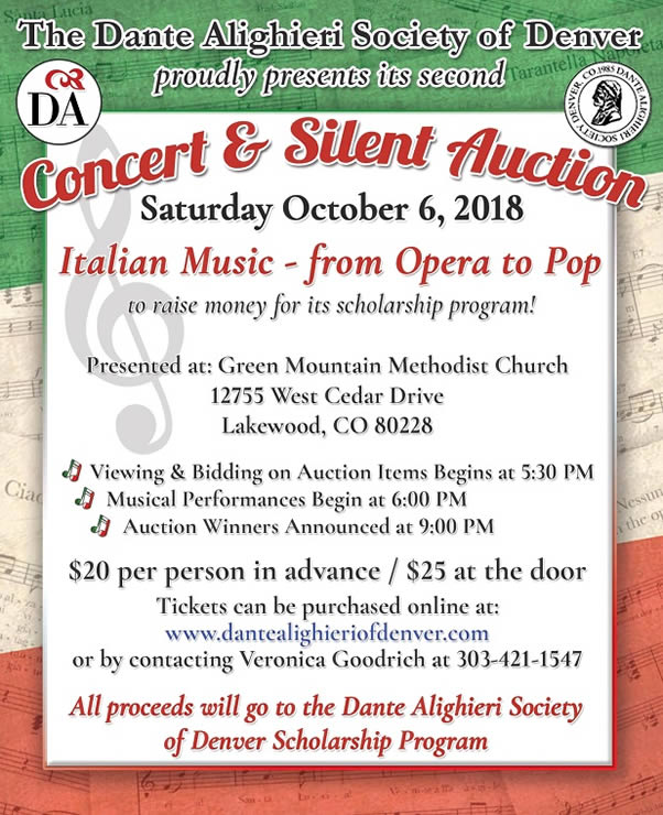 Scholarship Fundraiser Concert and Silent Auction