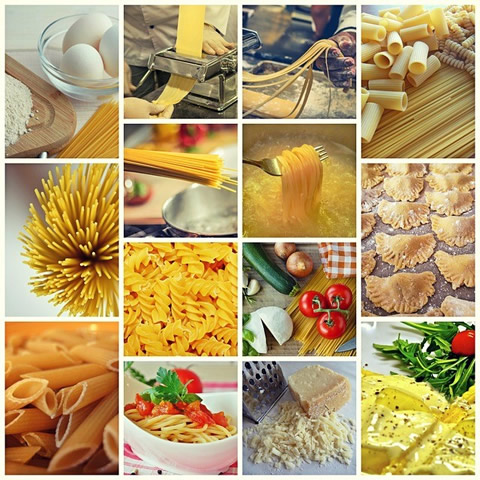 pasta collage photo