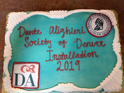 Dante Alighieri Society of Denver Installation 2019