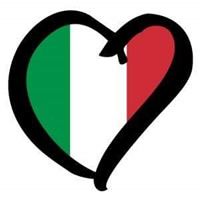 I love (heart design) Italy